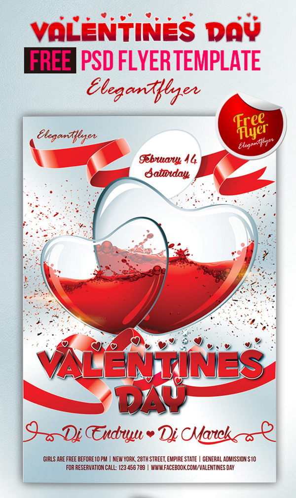 Valentines DJ Flyer Download
