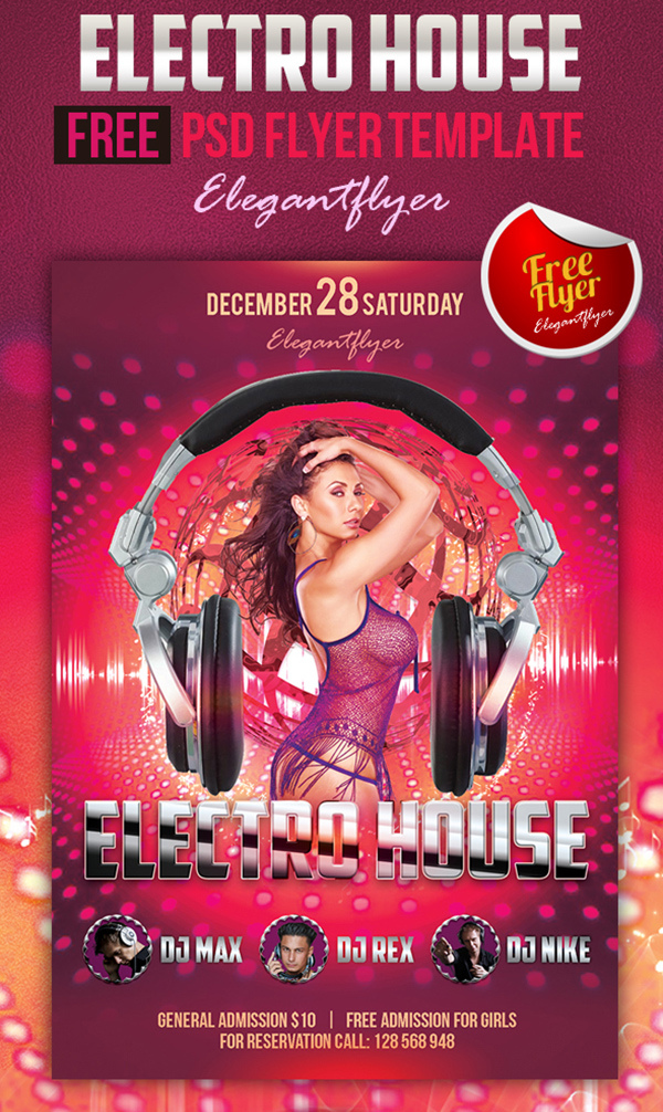 6 Amazing Free Dj Flyer Psd Templates Best Dj Turntables